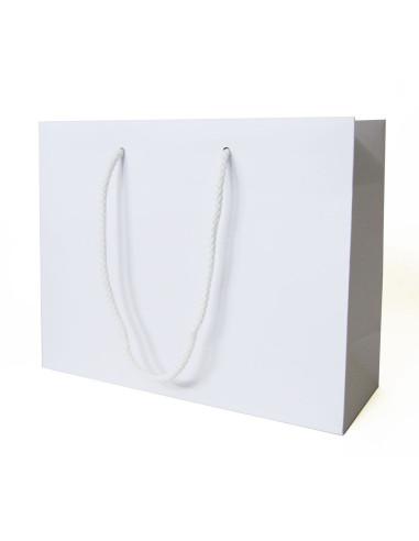 50 Sacs boutique luxe blancs