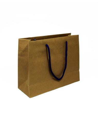 20 Sacs boutique luxe kraft brun 28 + 10 x 22 cm